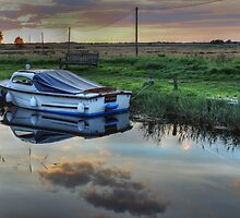 Boat at West Somerton  by Avril Harris