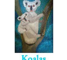 Australian Koalas (Card) by C J Lewis