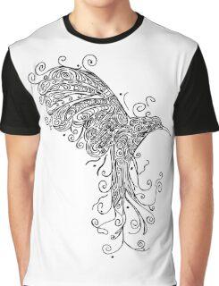 Bird - Tattoo Black and White Graphic T-Shirt