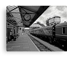 Toddington Railway Station (B&W)  Canvas Print