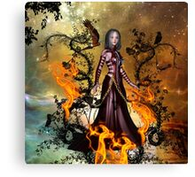 Awesome dark fairy Canvas Print