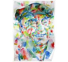 PABLO NERUDA - watercolor portrait.1 Poster
