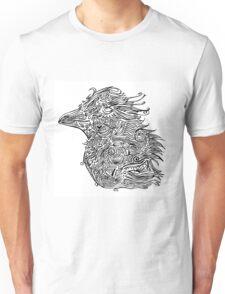 Birds - Tattoo Black and White Unisex T-Shirt