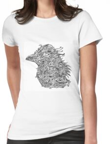 Birds - Tattoo Black and White Womens Fitted T-Shirt