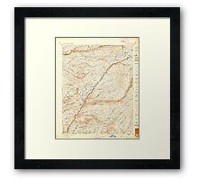 USGS TOPO Map California CA Big Trees 299216 1897 125000 geo Framed Print