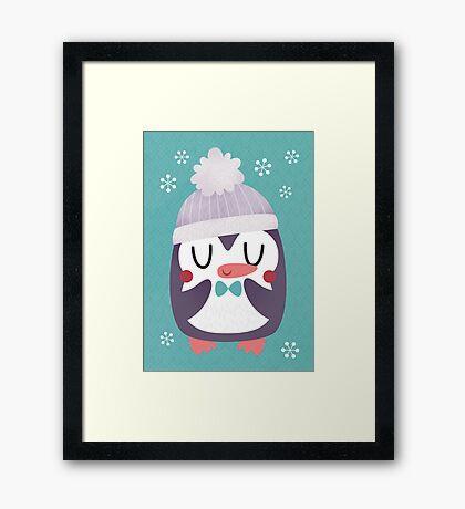 Cute Cozy Penguin Framed Print