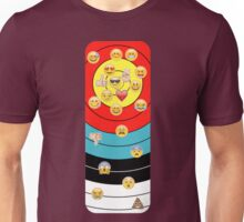 Target & emoji (vertical 2) Unisex T-Shirt
