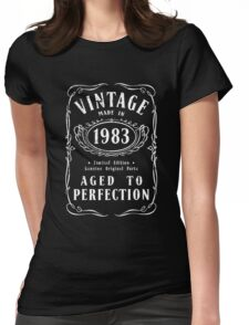 Made In 1983 Birthday Gift Idea Womens Fitted T-Shirt