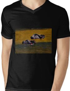 Synchronised Swimmers Mens V-Neck T-Shirt
