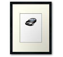 Black EK JDM Hatchback Framed Print