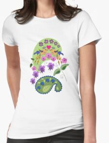 Romantic design with Love Birds and Flowers T-Shirt
