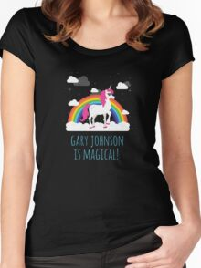 Gary Johnson is Magical - Funny Election President  Women's Fitted Scoop T-Shirt