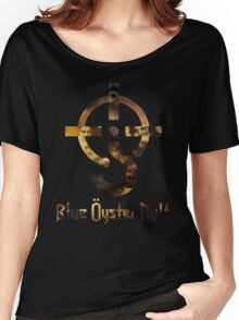Blue oyster cult black back Women's Relaxed Fit T-Shirt