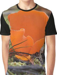 Orange Peel fungus , Aleuria aurantia Graphic T-Shirt