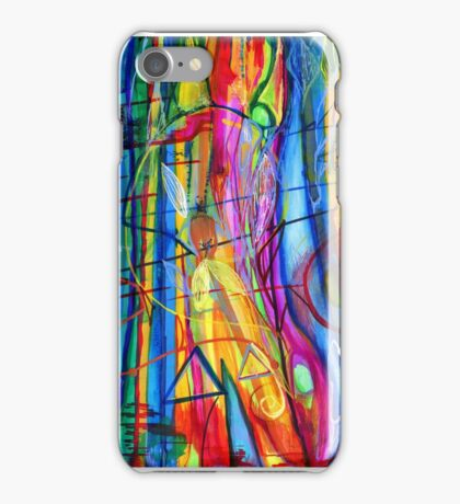 The fire juggler seen through the ice iPhone Case/Skin
