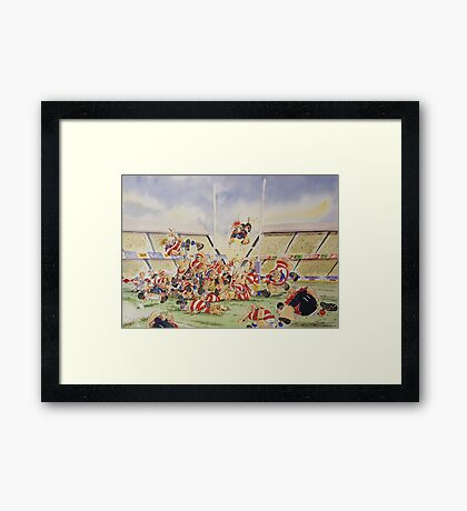 Sporting Prints- Drop Penalty Framed Print