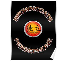 Browncoats Persephone on Black Poster
