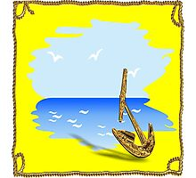 Anchor on the beach in a summer setting Photographic Print