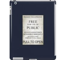 Doctor Who Tardis Pate iPad Case/Skin