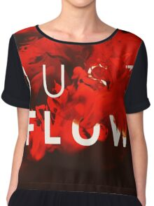 JUST FLOW red Chiffon Top
