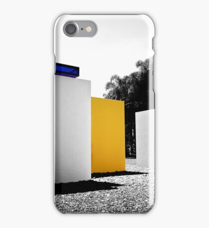 Black & Blue & Yellow & White iPhone Case/Skin