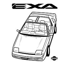 Nissan Exa Action Shot (LHD) Photographic Print