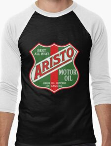 Aristo Motor Oil vintage sign reproduction Men's Baseball ¾ T-Shirt