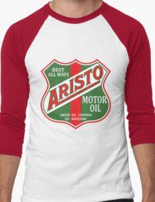 Aristo Motor Oil vintage sign reproduction Men's Baseball ¾ T-Shirt