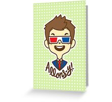 chibi!Allons-y Greeting Card