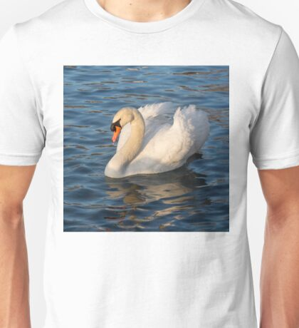 Pride and Grace - Swan Gliding on Satiny Ripples Unisex T-Shirt