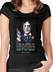 Quotation of OSCAR WILDE : I am so clever Women's Fitted Scoop T-Shirt