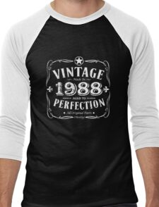 Made In 1988 Birthday Gift Idea Men's Baseball ¾ T-Shirt