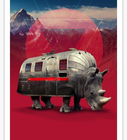 Rhino Van Sticker