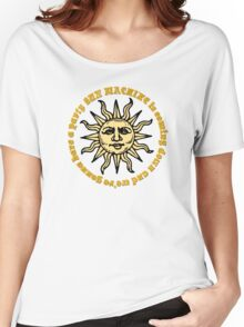 david bowie sun machine memory of a free festival lyrics rock n roll hippie rocker t shirts Women's Relaxed Fit T-Shirt