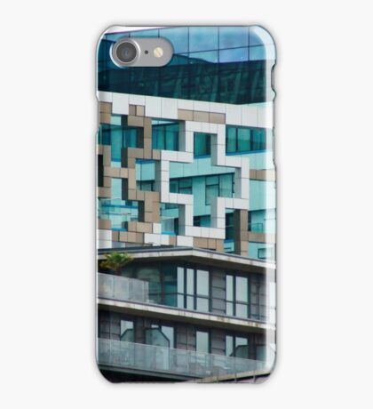 The Cube, Birmingham City centre. Brutalist modern architecture. For gifts, interior design, home decor. iPhone Case/Skin