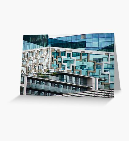 The Cube, Birmingham City centre. Brutalist modern architecture. For gifts, interior design, home decor. Greeting Card