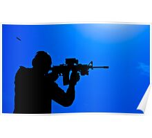Shooting silhouette Poster