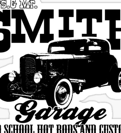 Mrs.& Mr. Smith Hot-Rod Garage Sticker
