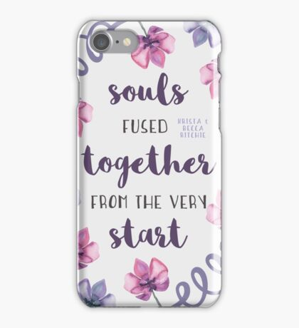 Souls Fused Together From the Very Start iPhone Case/Skin