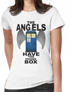The Angels Have The Phonebox - Doctor Who Womens Fitted T-Shirt