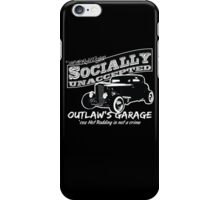 Outlaw's Garage. Socially unaccepted Hot Rod. iPhone Case/Skin