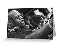 Carl Cox Pencil Drawing Greeting Card