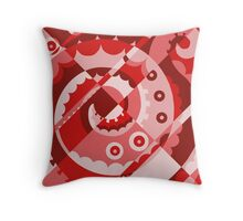 Red Tentacle Throw Pillow