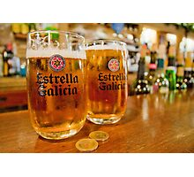 100 Percent Family Owned Brewery - Estrella Galicia Photographic Print