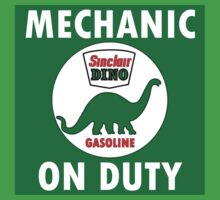 Sinclair Dino Mechanic on Duty vintage sign One Piece - Short Sleeve