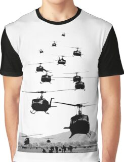 UH1 Huey Helicopters Graphic T-Shirt