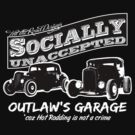 Outlaw's Garage. Socially unaccepted Hot Rods dark bkg by htrdesigns