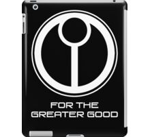 Tau Emblem - White iPad Case/Skin