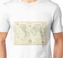 Antique world map Unisex T-Shirt