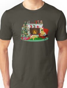Night Before Christmas - Preppy Golden Retrievers Unisex T-Shirt